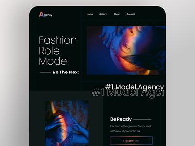 Model Agency - Landing Page photography fashion branding ux ui
