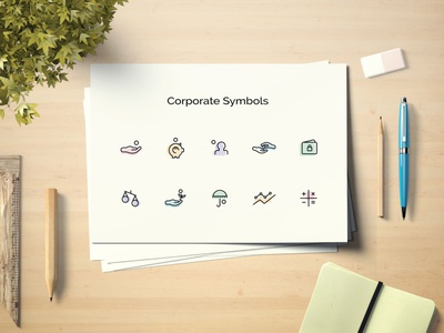 Icons for Project graphicdesign concept artist art symbols corporate mockup illustration design icon