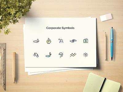 Icons for Project graphicdesign concept artist art symbols corporate mockup illustration design icon