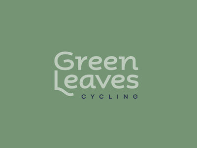 Green Leaves early type experiment typoraphy type branding logo