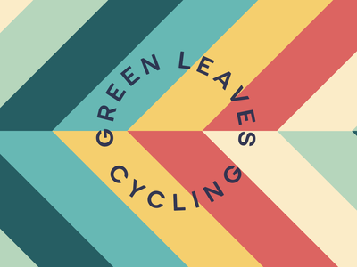 Green Leaves Cycling Brand Exploration typogaphy type colour logo branding
