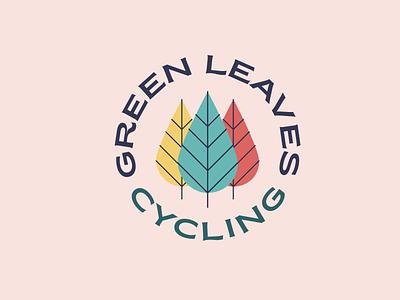 Green leaves cycling logo exploration typogaphy colour branding logo