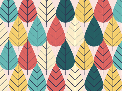 Trees / leaves pattern exploration for Green Leaves Cycling colour pattern branding