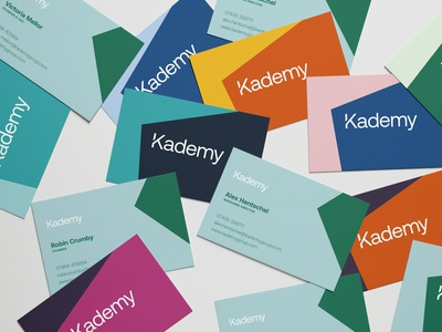 Kademy Business Cards print colour logo branding