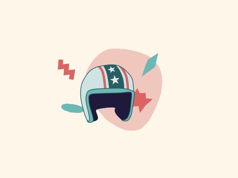 Helmet Illustrstion cycling illustration branding