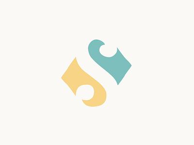 Negative S brand branding logo