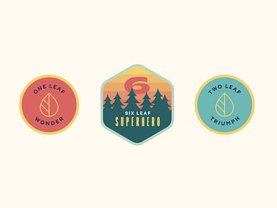 Reward Badges design illustration colour brand branding