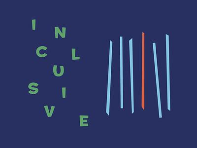 Inclusive type illustration colour brand branding