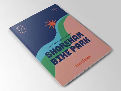 Shoreham Bike Park Vision Document brochure illustration branding