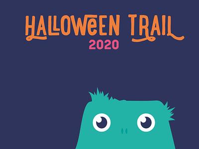 Halloween Trail 2020 illustration colour branding