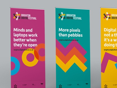 Pull-up stands for the Brighton Digital Festival 2016