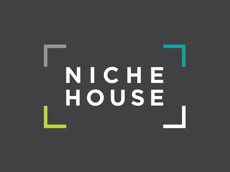Niche House — Logo for home renovation company brand niche logo