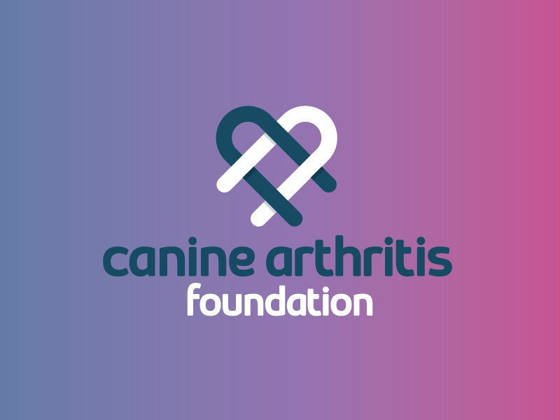 Canine Arthritis Foundation Monogram vet ca monogram heart purple pink brand logo dog canine arthritis