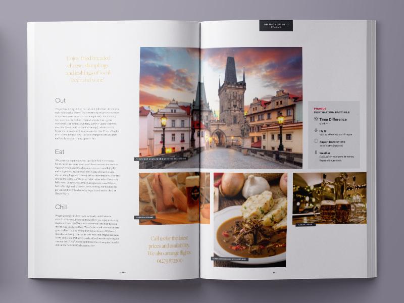 Getset Magazine Spread layout print travel guide travel agent prague magazine design editorial