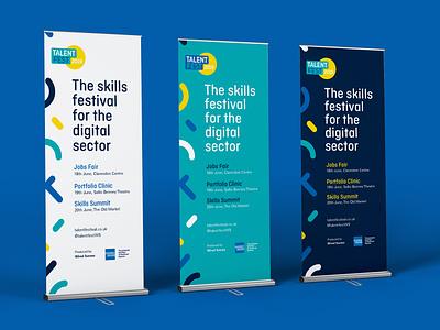 Talent Fest 2019 pullup banners jobs fair large format display print