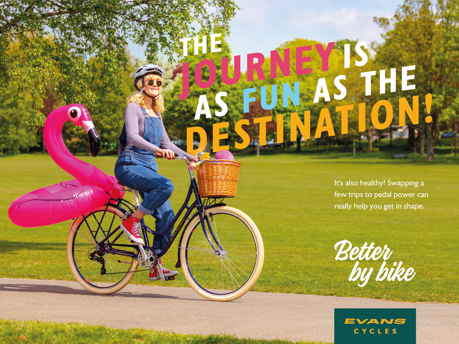 The journey is as fun as the destination! design branding flamingo bike campaign photoshoot cycling summer