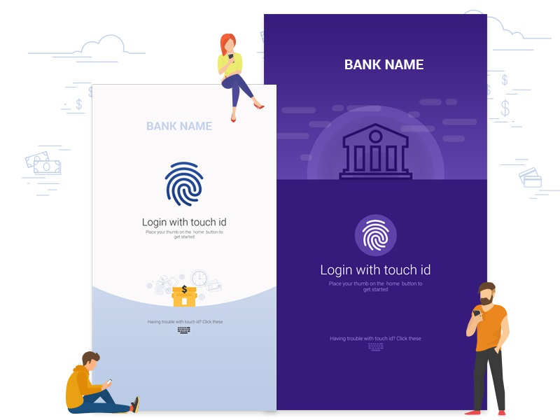 Bank App - Login Page by Paulin on Dribbble