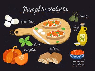 Pumpkin ciabatta