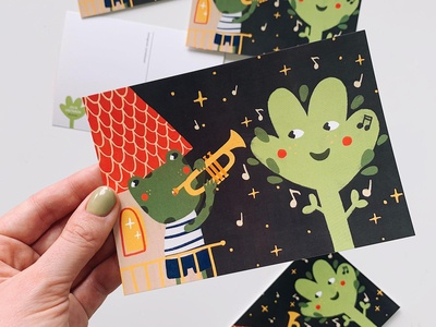 Postcard Villo The frog