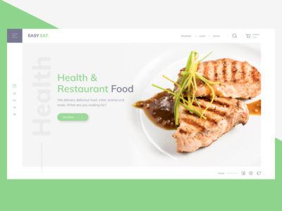 Landing Page Delivery Restaurant Food