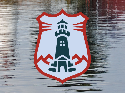 Finding the light logo icon lighthouse