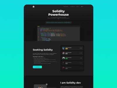 Solidity power house landing vector branding logo illustration ui cryptocurrency uiux crypto figma design
