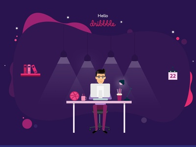 Hello Dribbble hellodribble photoshop art dribbble ui illustration design