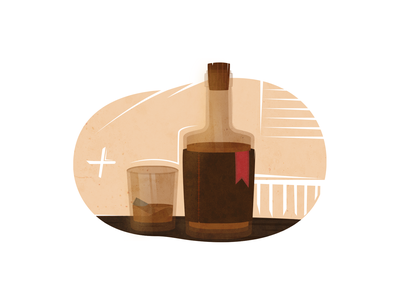 Bottle Of Old Aged Whiskey old fashioned bourbon dribbble wild west whiskey texture saloon retro noise cowboy bullets bullet bottle bar design drawing vector illustration art 2d