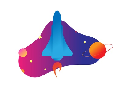 Cosmonautics Day stars spacex saturn planet musk gagarin moon marsone mars space design art drawing flat dribbble vector illustrator illustration space russia celebration