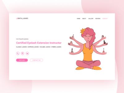 Landing page concept: lashmaker