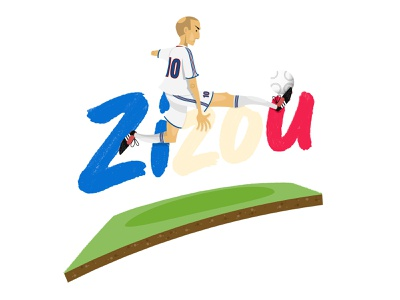 Zizou zinedine zidane adobe illustrator vector football illustration illustration france football zizou