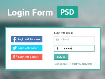 Login Form psd free freebie flat ui login form interface