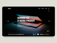 Interactive homepage slider design for The Astro