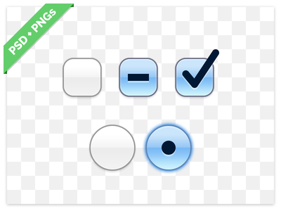 OS X Checkbox and Radiobutton PSD ui elements freebie download psd checkbox radiobutton os x