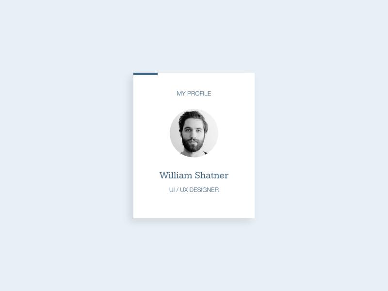 My Profile simple design xd ui design minimal blue and white blue clean portfolio profile ui  ux