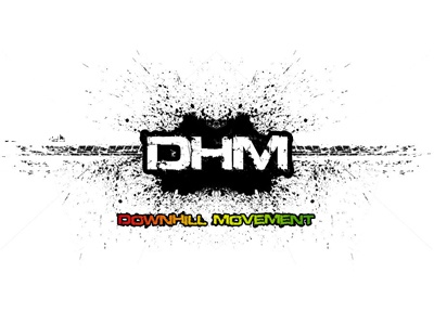 DHM - Down Hill Movement logo design logo downhill movement