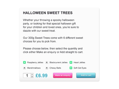 Cart Options cart options halloween shopping cart options add to cart make an enquiry