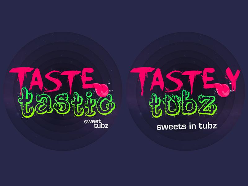 Tastetastic Tasteytubz Dribbble tastetastis tasteytubz branding logo sweets tongue tangy sour jiucy tastey