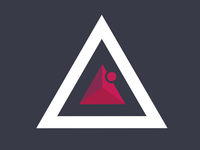 Triangle Logo for a fitness model