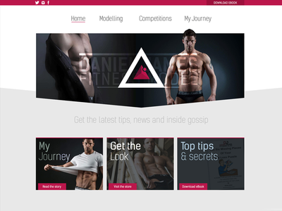 Fitness Model Webpage sample ui model fitness design website