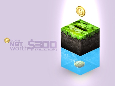 Mine Bitcoins minecraft bitcoins mine ui design cube block coin