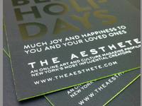 Aesthete Holiday Card