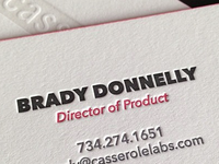 Casserole Labs business cards