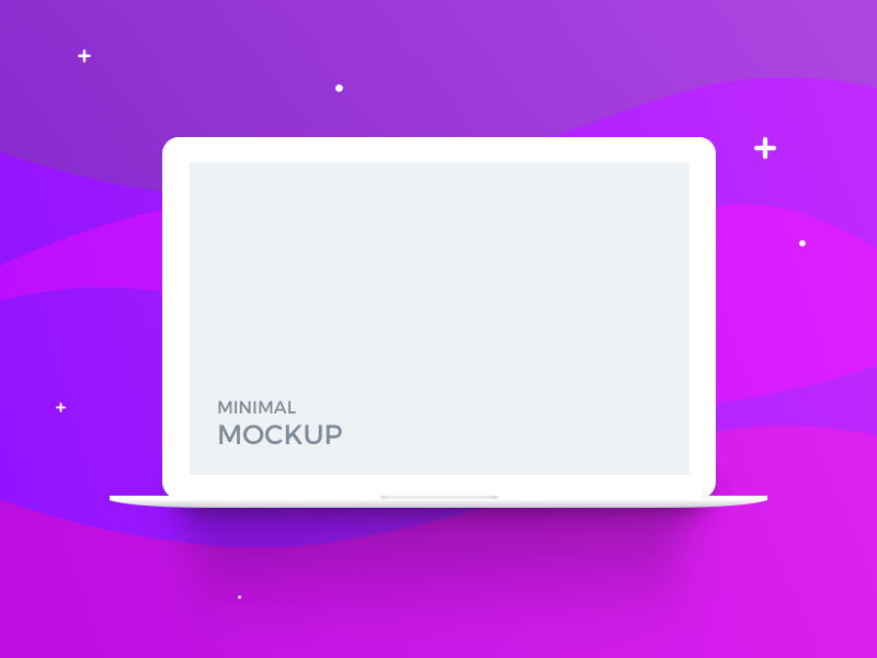 Macbook Minimal Mockup (freebie) minimal flat ui free macbook apple mockup psd sketch freebie