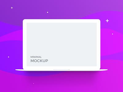 Macbook Minimal Mockup (freebie) minimal flat ui free macbook apple mockup psd sketch freebie