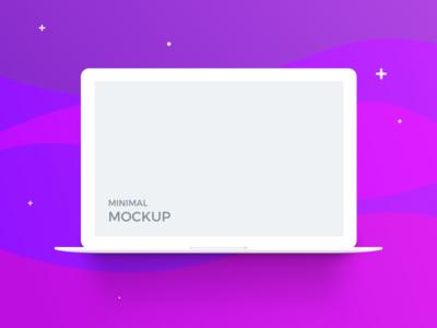 Macbook Minimal Mockup (freebie)