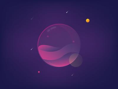 Freebie - Glow Ball Illustration