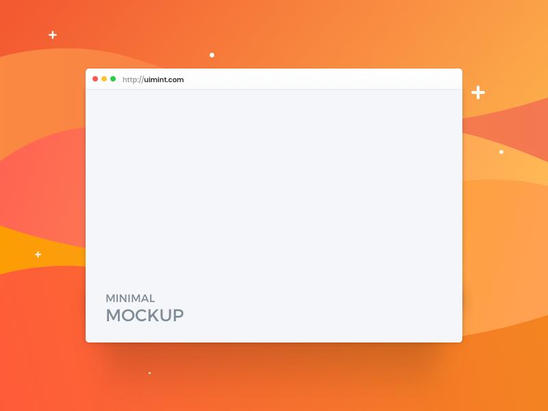 Minimal Browser Mockup (Freebie) kit display branding vector iphone website free freebie sketch xd psd minimal mockup browser web design flat clean ui