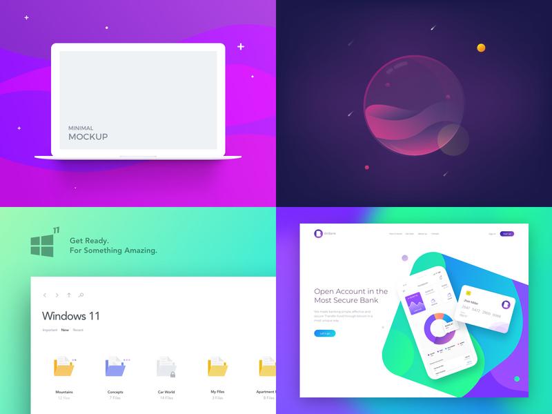 2018 #Top4Shots branding design vector kit mobile template illustration ux print mockup logo freebie free website ios flat web psd clean ui