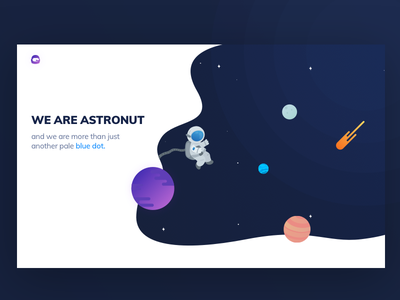 Astronut Website concept vector mockup mobile animation iphone icon ux flat web branding design illustration logo template free psd freebie website clean ui